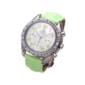 OMEGA(オメガ) 腕時計 スピードマスター レザー 3834 ライトグリーン