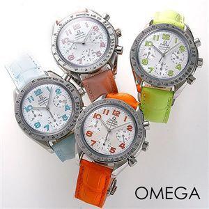 OMEGA(オメガ) 腕時計 スピードマスター レザー 3834 オレンジ