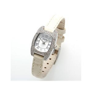 フォリフォリ 腕時計 レザーウォッチ WF7A029SPW ホワイト
