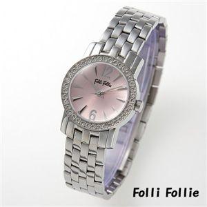 フォリフォリ 腕時計 ブレスレディースウォッチ WF7 ピンク×シルバー