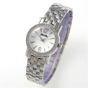 フォリフォリ 腕時計 ブレスレディースウォッチ WF7 ホワイト×シルバー