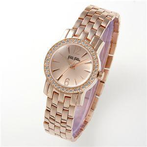 フォリフォリ 腕時計 ブレスレディースウォッチ WF7 ピンクゴールド×ピンクゴールド