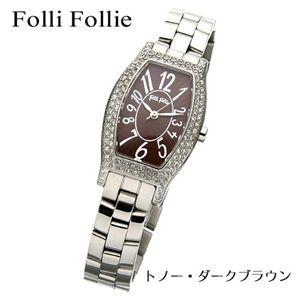 Folli Follie(フォリフォリ) トノーウォッチ WF5T084BPB/トノー・ダークブラウン