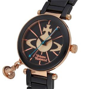 Vivienne Westwood(ヴィヴィアン・ウエストウッド) ケンジントン VV067RSBK 腕時計 レディース - 拡大画像