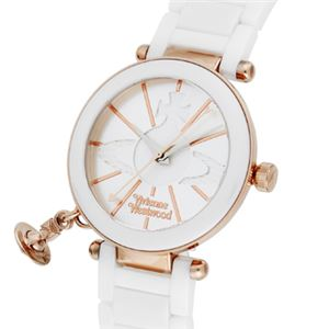 Vivienne Westwood(ヴィヴィアン・ウエストウッド) ケンジントン VV067RSWH 腕時計 レディース - 拡大画像