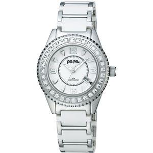 Folli Follie(フォリフォリ)  腕時計 セラミック ジルコンホワイトWF5T138BDW - 拡大画像