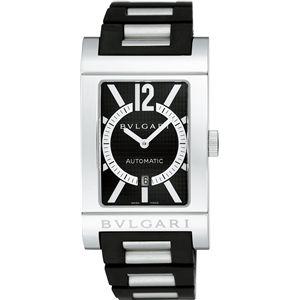 ブルガリ 腕時計 レッタンゴロブラックRT45BRSVD
