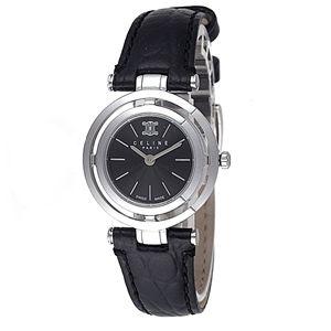 CELINE(セリーヌ) 腕時計 MARPLE カーフベルト ブラック C73121011