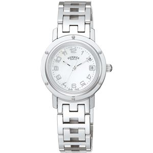 HERMES(エルメス) 腕時計 クリッパーナクレホワイトパールCL4.210.212/3821