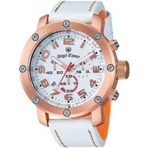 Angel Clover(エンジェルクローバー) メンズ 腕時計 エイトスター ES46PWH-WH ホワイト - 拡大画像