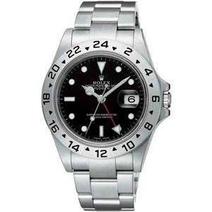 ROLEX(ロレックス) メンズ 腕時計 エクスプローラー II 16570 BLK 3列ブレス ブラック - 拡大画像