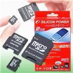 SILICON POWER microSDカード 2GB 60倍速