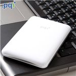 PQI 2.5インチポータブルHDD 320GB H550 6550-320GR1(ホワイト)