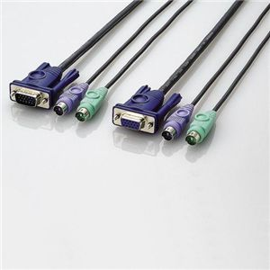 エレコム パソコン切替器用接続ケーブル KVM-NPC50