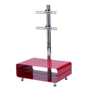 サンワサプライ 壁寄せテレビ台(赤色) TVHF-2637R