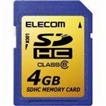 ELECOM(エレコム) SDHCメモリーカード MF-FSDH04GC6 SDHCカード クラス6対応 CPRM搭載 4GB 【2セット】
