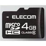 ELECOM(エレコム) class6対応 microSDHCメモリーカード MF-NMRSDH04GC6 【3セット】