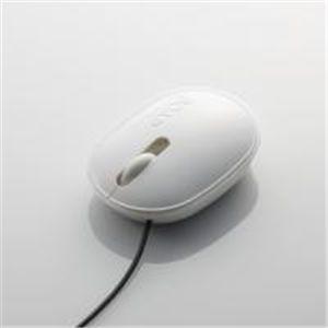 """ELECOM(エレコム) """"SOAP(ソープ)""""3ボタン光学式マウス環境配慮モデル M-SP1URWH ケーブル長1.5m 【2セット】"""
