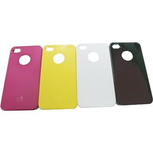icover iPhone4用ケース GLOSSY AS-IP4G-Y イエロー (フルセット)