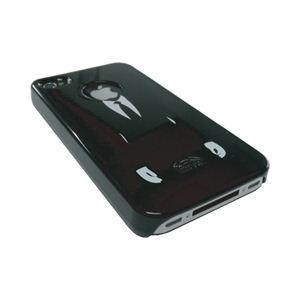 icover iPhone4用ケース DESIGN AS-IP4GM-BK ブラック (フルセット)