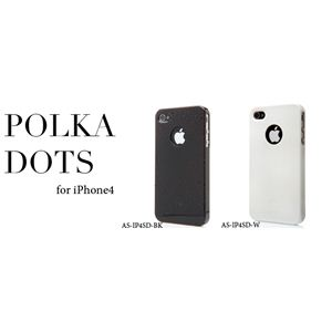 icover iPhone4用ケース POLKA DOTS AS-IP4SD-W ホワイト (フルセット)