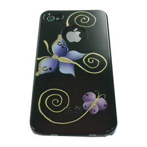 icover iPhone4用ケース HAND PRINTING AS-IP4HP-BF/BK ブラック1 (フルセット)