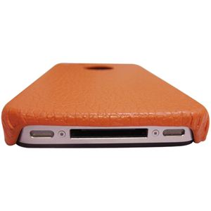 icover iPhone4用ケース REAL COW LEATHER AS-IP4LE-O オレンジ (フルセット)
