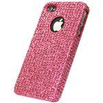 【訳あり・在庫処分】icover iPhone4用ケース KOREAN CRYSTAL AS-IP4K8-P ピンク (フルセット)