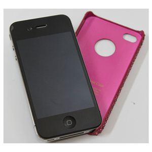 icover iPhone4用ケース KOREAN CRYSTAL AS-IP4K8-P ピンク (フルセット)