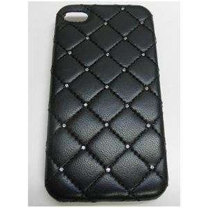 icover iPhone4用ケース SWAROVSKI LEATHER AS-IP4LE-SWBK ブラック (フルセット)