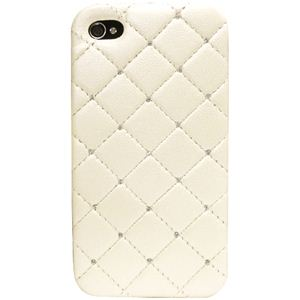 icover iPhone4用ケース SWAROVSKI LEATHER AS-IP4LE-SWIV アイボリー (フルセット) - 拡大画像
