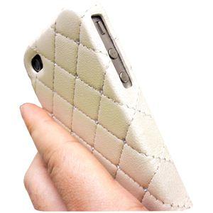 icover iPhone4用ケース SWAROVSKI LEATHER AS-IP4LE-SWIV アイボリー (フルセット)