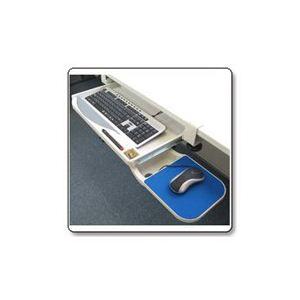 サンコー クランプ式キーボードトレイ 25272 KEYBTRAY - 拡大画像