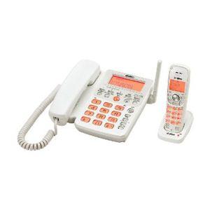 ユニデン UNIDEN デジタルコードレス留守番電話機 子機1台タイプ ホワイトメタリック UCT-206(W) UCT-206 W - 拡大画像