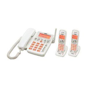 ユニデン UNIDEN デジタルコードレス留守番電話機 子機2台タイプ ホワイトメタリック UCT-206P2(W) UCT-206P2 W - 拡大画像