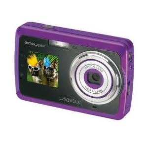 easypix 被写体を確認しながら撮影できるSecond Display装備!Easypix V515 Duo 500万画素デジタルカメラ パープル V515-PUR - 拡大画像