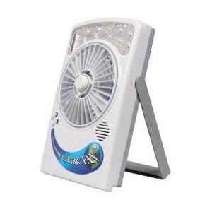 サンコー 太陽充電LED付きUSB充電ファン SPLEUSFN