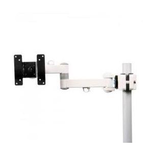 サンコー 4軸式クリップモニタアームSLIM(ホワイト) MARMGUS129AW