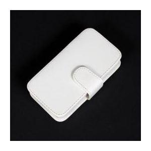 サンコー 無線式ミニキーボード内蔵iPhone革ケース(ホワイト) WLSPH4GW - 拡大画像