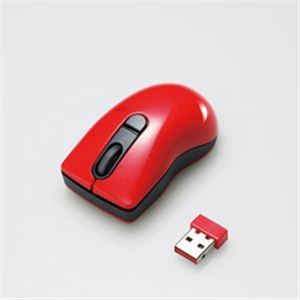 エレコム 3ボタンマイクロレシーバレーザーマウス M-BG3DLRD - 拡大画像
