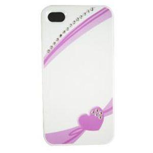 icover iPhone4S/iPhone4用ケース Swaravski Design シリーズ Heart Ribbon Crystal AS-IP4SV7-W - 拡大画像