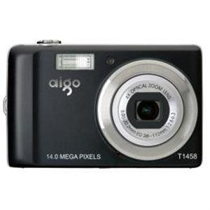 aigo(アイゴ) タッチパネル1400万画素デジタルカメラ T1458 - 拡大画像