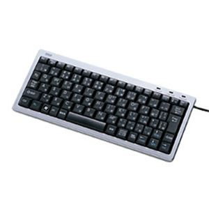 サンワサプライ USB&PS/2スリムキーボード(シルバー) SKB-SL10SV - 拡大画像