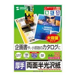 サンワサプライ カラーレーザー用半光沢紙・厚手 LBP-KCAGNA4-250