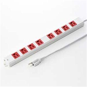 サンワサプライ 3P、3m、8個口タップ赤色(緊急用) TAP-K8-3R h01