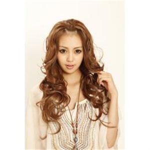 180℃耐熱ファイバーウィッグ 前髪アップできるハーフキャップ ライトブラウン DL1863-12 - 拡大画像