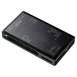 サンワサプライ USB2.0カードリーダー ADR-ML1BK - 拡大画像