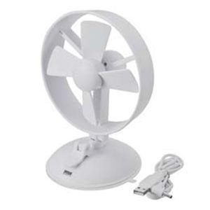 サンワサプライ USB吸盤付き扇風機(ホワイト) USB-TOY61W - 拡大画像