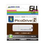 グリーンハウス GREENHOUSE USBフラッシュメモリ ピコドライブN 64GB GH-UFD64GN