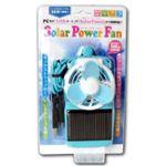 ノーブランド 携帯できる扇風機!ソーラーパワーファン ブルー SPF072